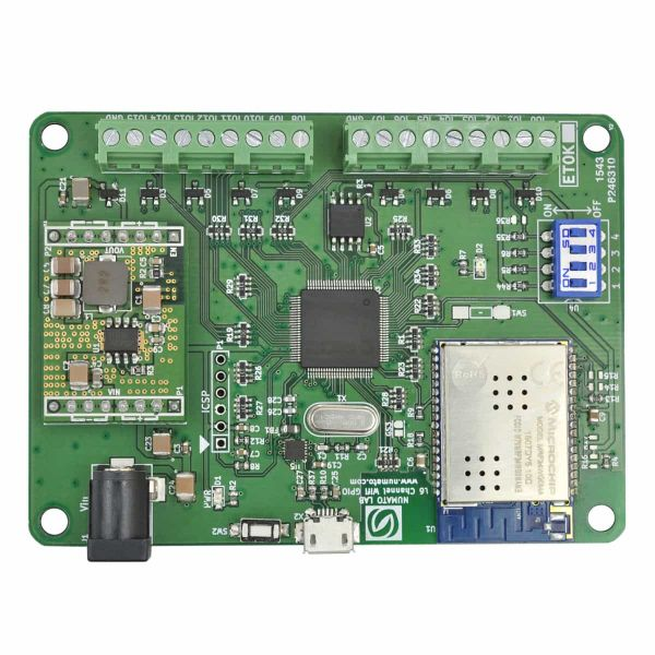 16 Channel WiFi GPIO Module With Analog Inputs