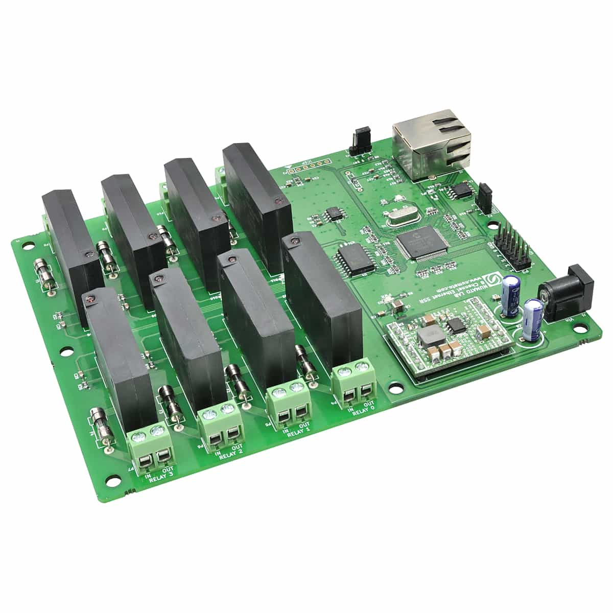 Channelether ssr on solid state relay board