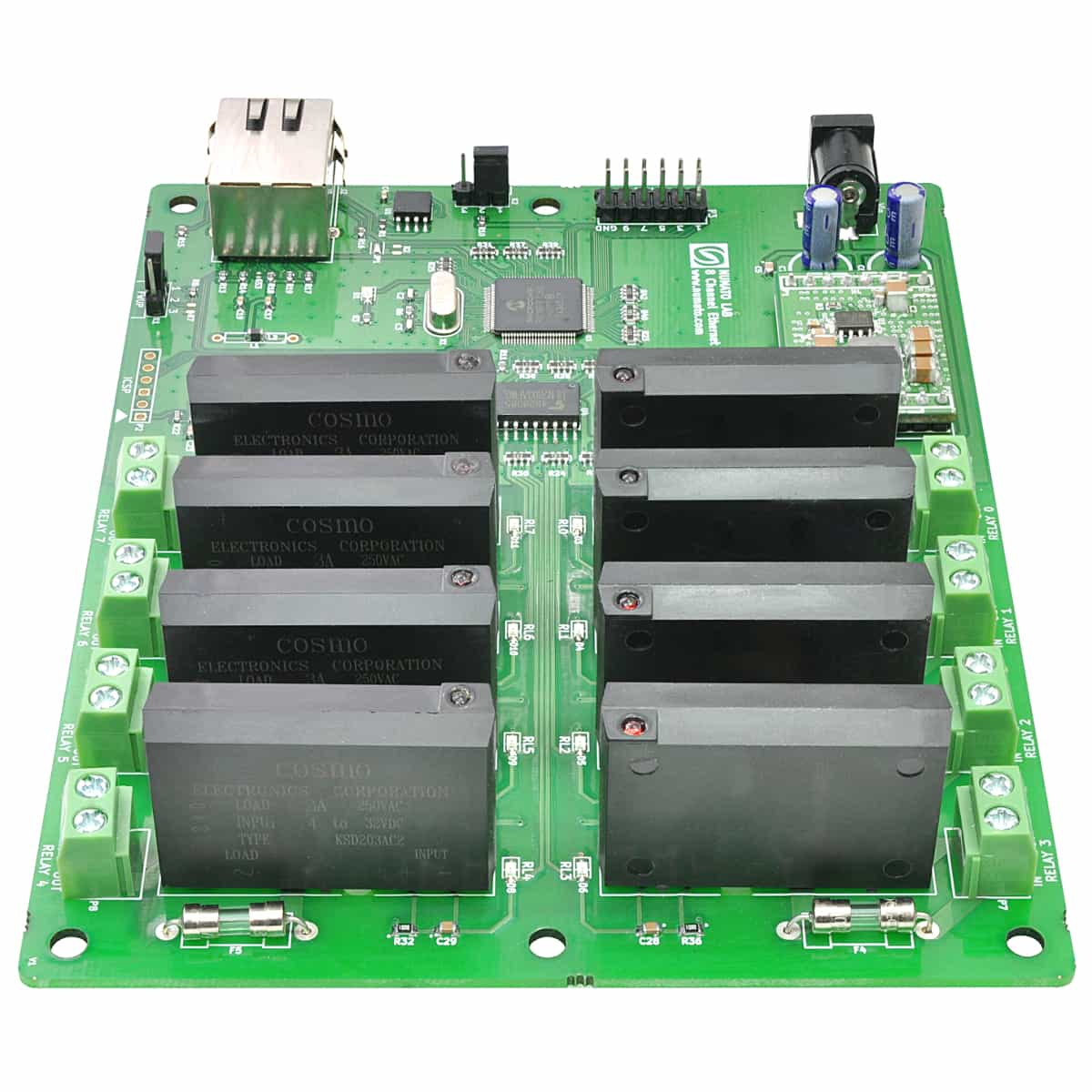 8 Channel Ethernet Solid State Relay Module Numato Lab Circuit