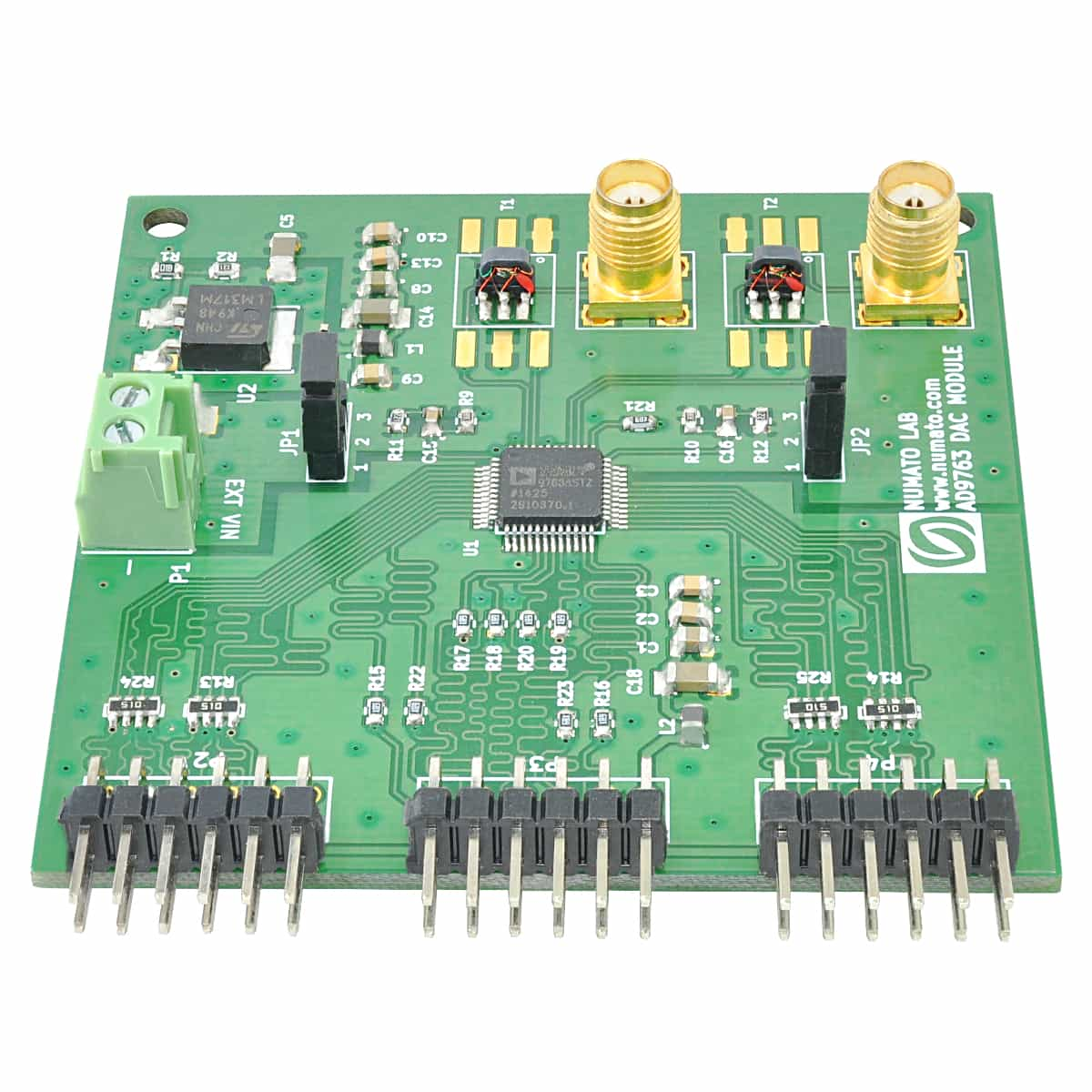 AD9763 DAC Expansion Module with 125 MSPS update rate   Numato Lab