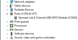 usbgpio8 windows device manager