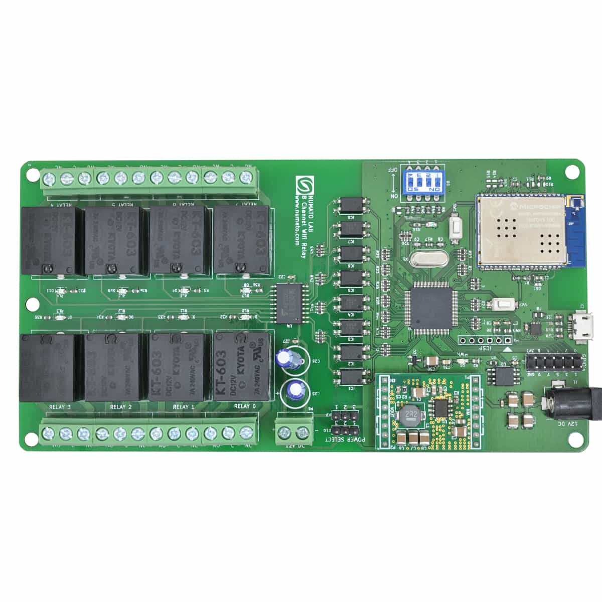 8 Channel Wifi Relay Module With Gpio Analog Inputs Numato Lab Solid State Canada