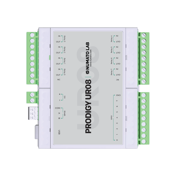 UR08- USB Modbus Relay Module with GPIO and Analog Inputs - 2