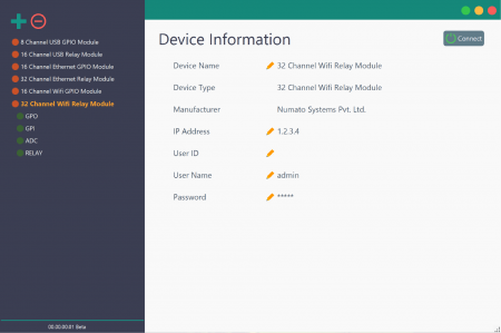 Rhea Device Management Tool for Numato Lab Relay and GPIO modules