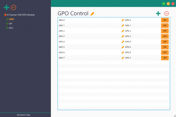 Rhea Device Management Tool for Numato Lab Relay and GPIO modules With 8 Channel USB GPIO