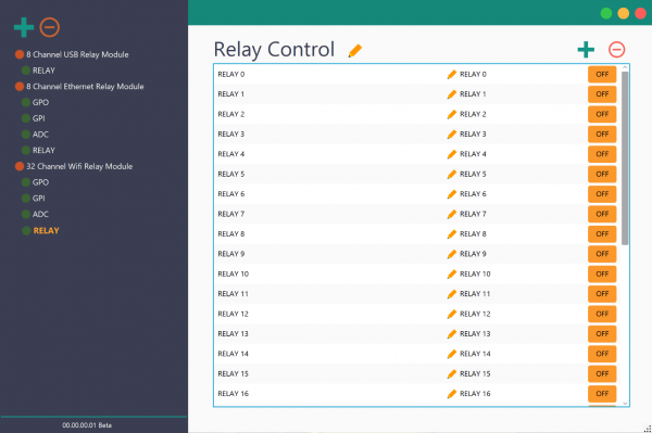 Rhea Device Management Tool for Numato Lab Relay and GPIO modules With 32 Channel WiFi Relay